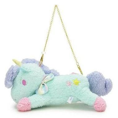 Psychedelic Little Twin Stars Unicorn Plush Handbag