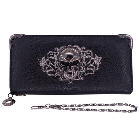 Gothic Designer Skull Long Purse