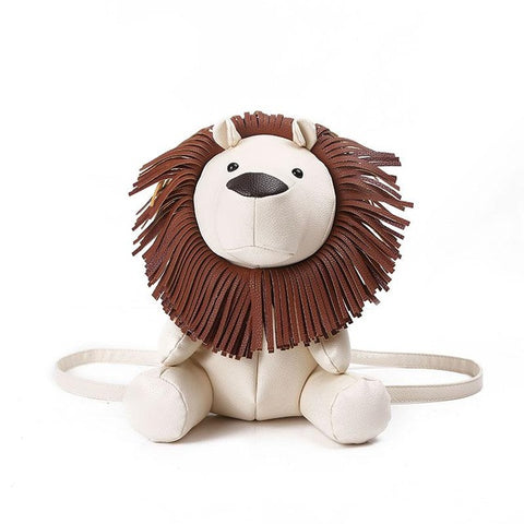 Cute PU Lion Animal Backpack