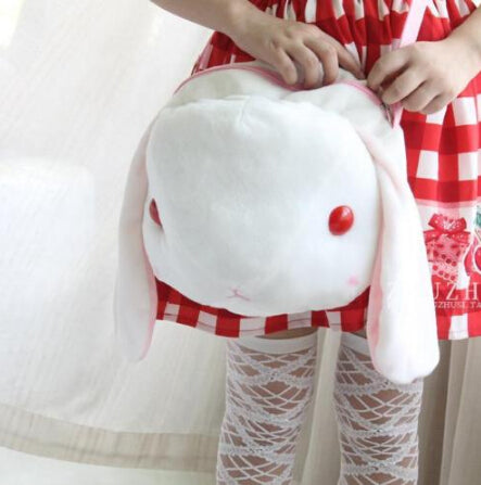 Cute Lop-Ear Rabbit Lolita Plush Animal Handbag