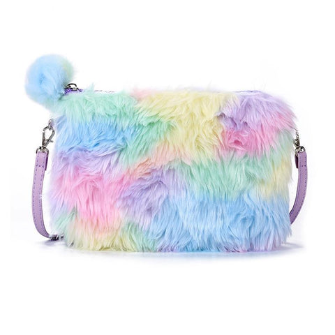 Psychedelic Furry Plush Handbag