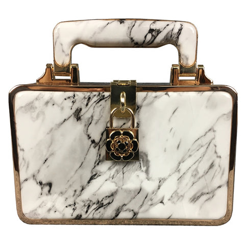 Luxury Marble Design Vintage Handbag