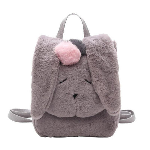 Cute Furry Bunny Animal Backpack