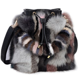 Exotic Fur Leather Handbag