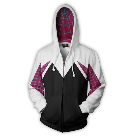 Gwen Stacy Spider-Gwen Superhero Zipper Hoodie