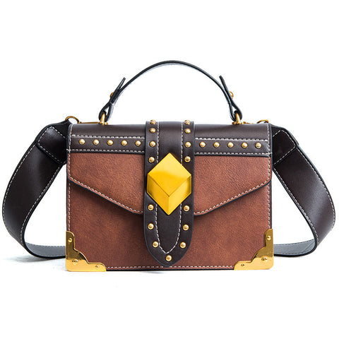 Luxury Vintage Golden Cube Handbag