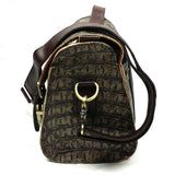 Vintage Crocodile Embossed Leather Handbag