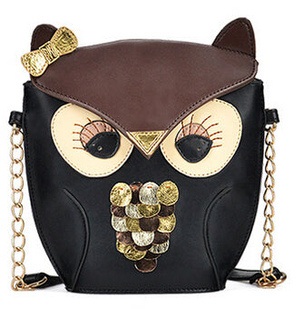 Vintage Owl Animal Handbag