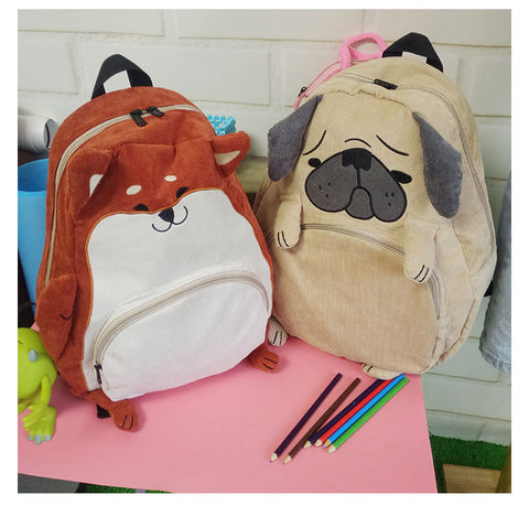 Corgi and Bulldog Animal Backpack
