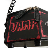 Gothic Vampire Skeleton Coffin Handbag