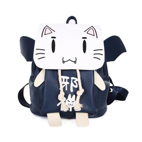 Cute Evil Japanese Cat Gothic Backpack