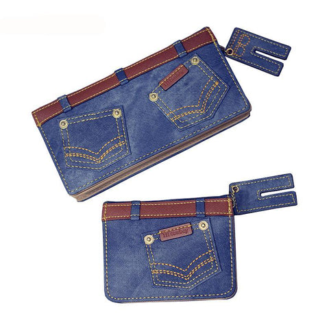 Rocker Denim Jeans Styled Wallet