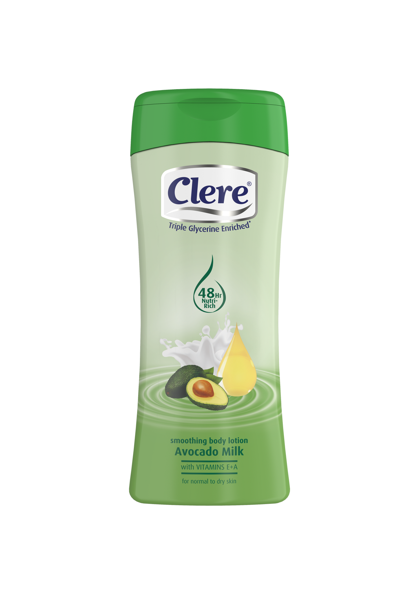Clere Hand & Body Lotion - Avocado Milk - 200ml 24-Pack