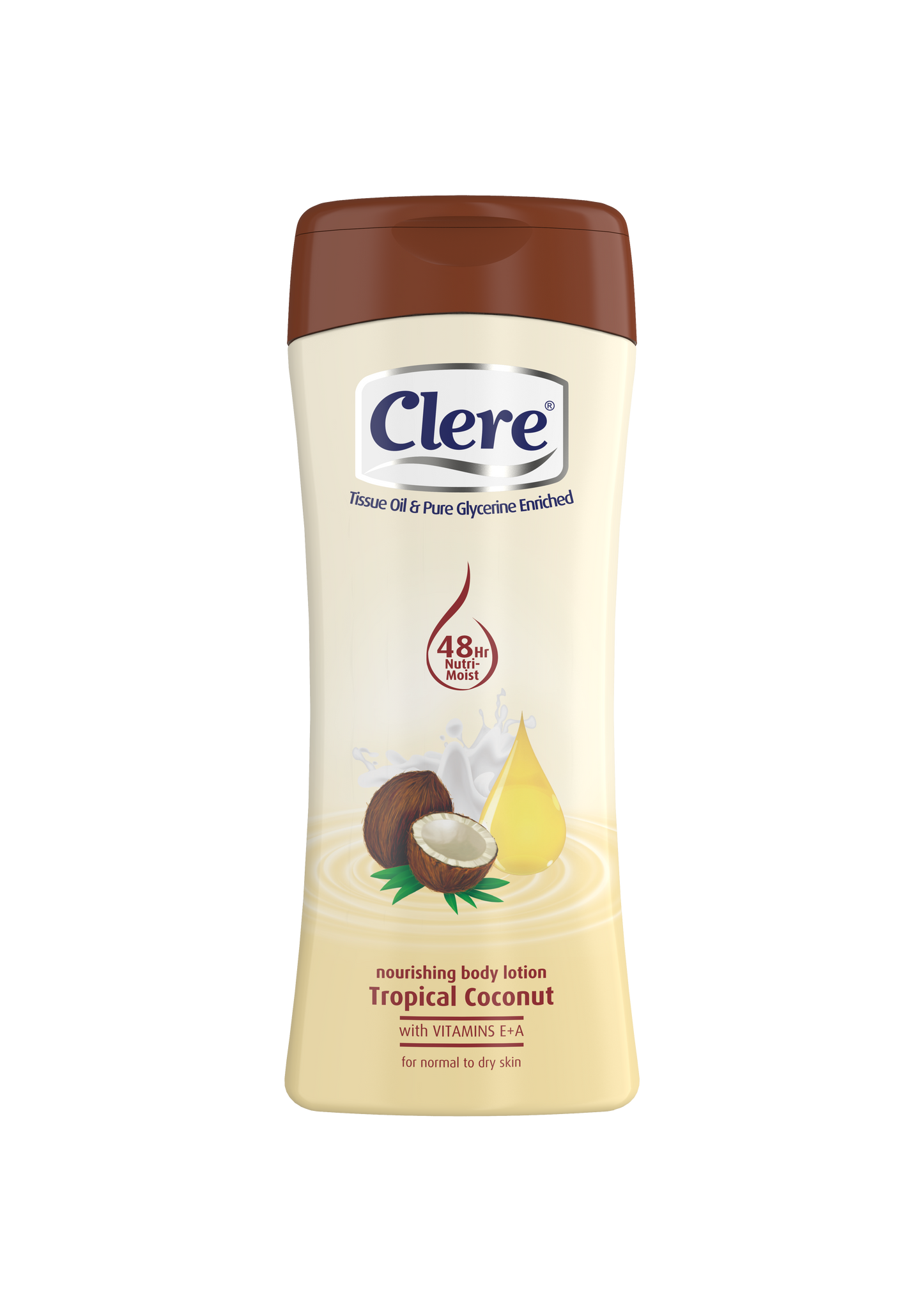 Clere Hand & Body Lotion - Tropical Coconut - 400ml 36-Pack