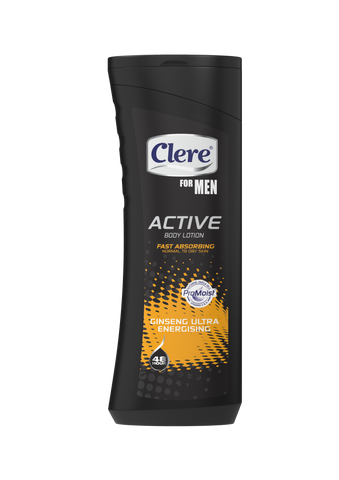 Clere For Men Active Body Lotion - Ultra Energising - 400ml 36-Pack