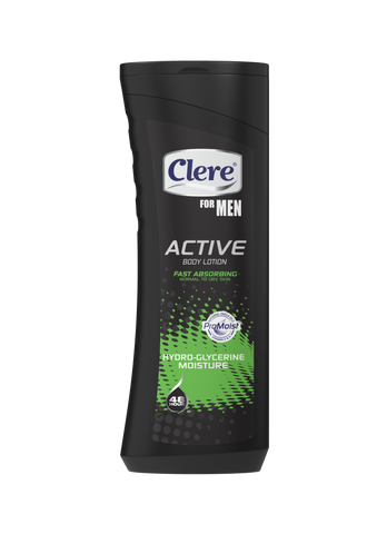 Clere For Men Active Body Lotion - Glycerine Moisture - 400ml 36-Pack