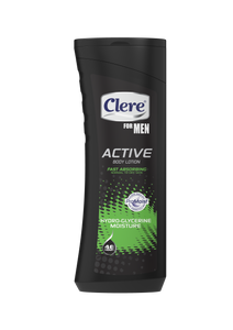 Clere For Men Active Body Lotion - Glycerine Moisture - 400ml