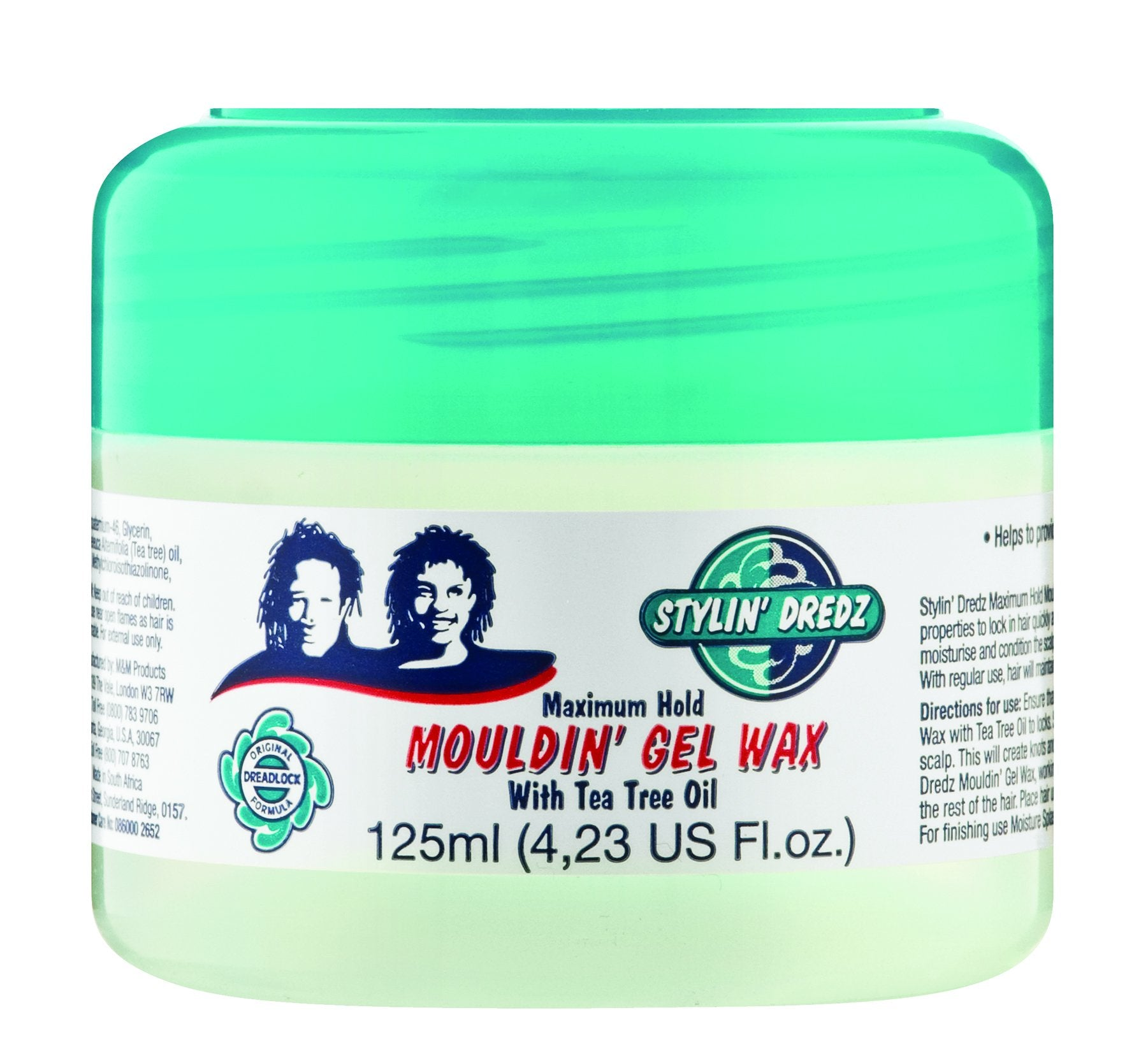 Stylin' Dredz Mouldin Gel Wax 125ml