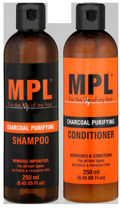 MPL Charcoal Shampoo & Conditioner (B/P) (250ml + 250ml) 6-Pack