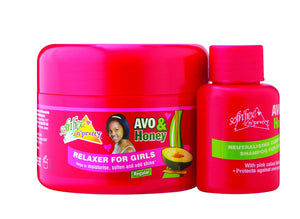 Sofnfree avo & honey relaxer for girls regular 125ml + 60ml neutralising shampoo