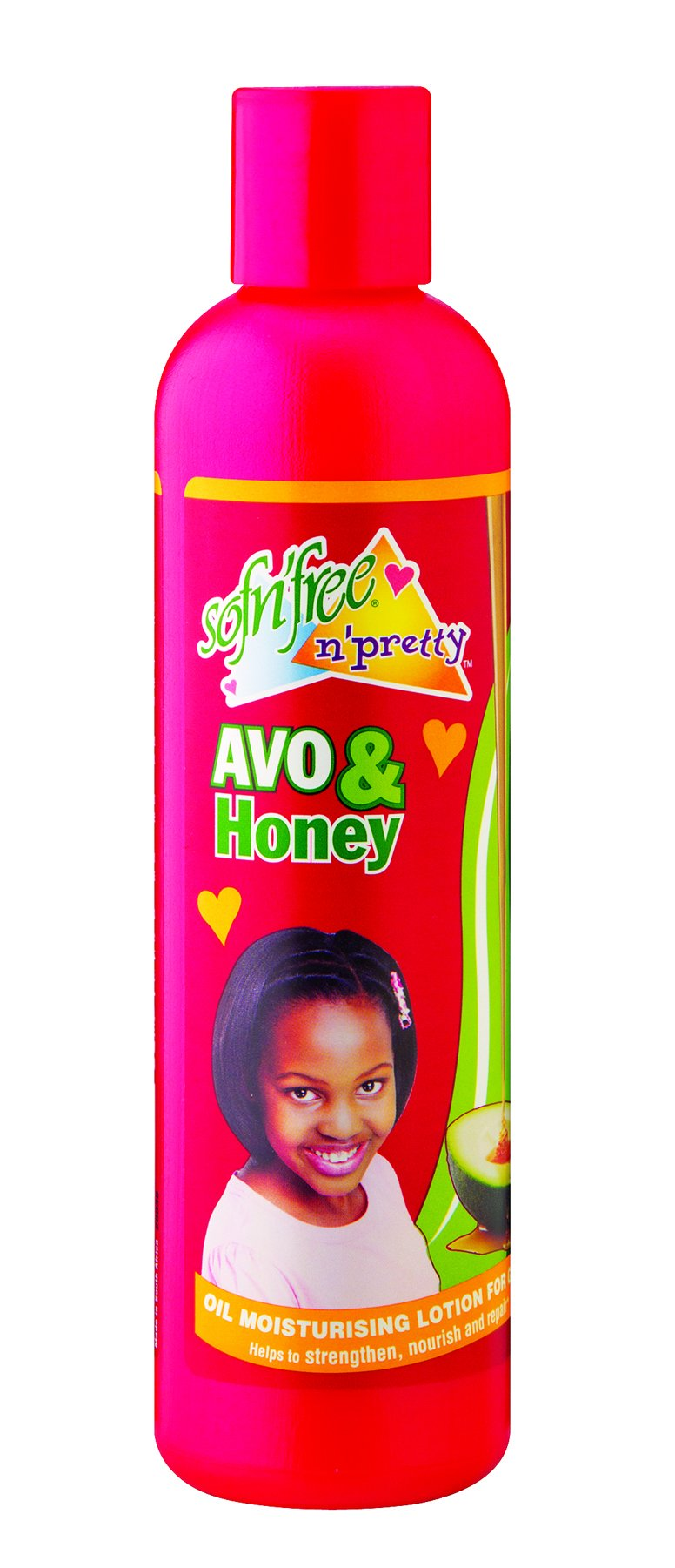 Sofnfree honey and avo oil moisturiser for girls 250ml
