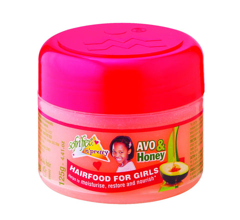 Sofnfree avo and honey pomade hairfood for girls 125g