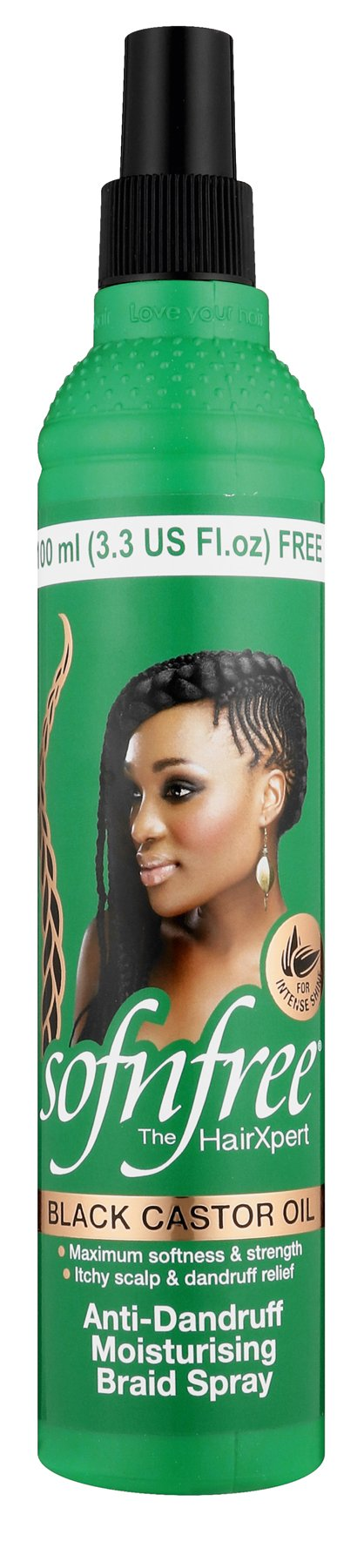 Sofnfree castor oil braids spray 350ml  12-Pack