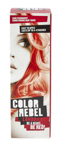Color Rebel Semi-Perm cond hair toner red 100ml 12-Pack
