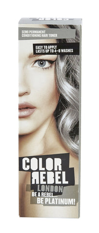 Color Rebel Semi-Perm cond hair toner platinum 100ml 12-Pack