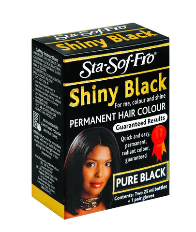Shiny Black Cream Hair Color 25ml  48-Pack