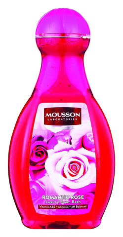 Mousson Bubble Bath - Romantic Rose - 2L 6-Pack