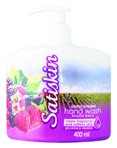 Satiskin Hand Wash - Blisfull Berry - 400ml