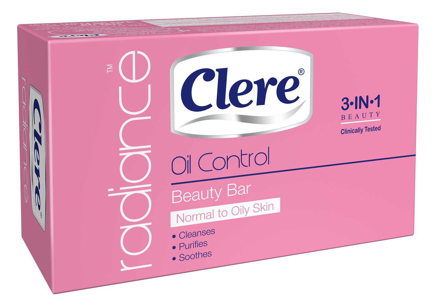 Clere Radiance - Oil Control Beauty Soap - 100g 72-Pack