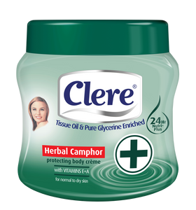 Clere Body Crème - Herbal Camphor 500ml 24-Pack