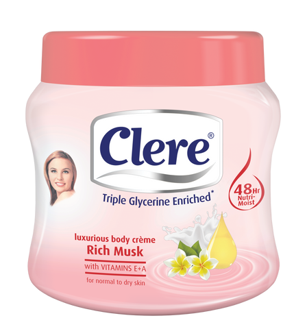 Clere Body Crème - Rich Musk 500ml 24-Pack