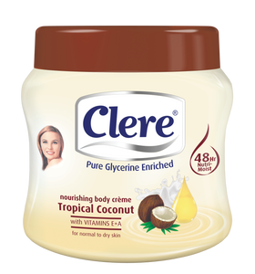 Clere Body Crème - Tropical Coconut 500ml 24-Pack