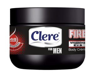 Clere For Men Body Crème - FIRE - 250ml 24-Pack