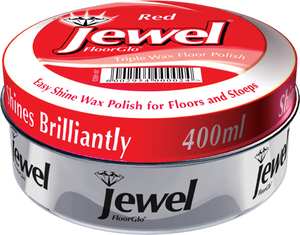 Jewel Floor Polish - Red - 400ml 24-Pack