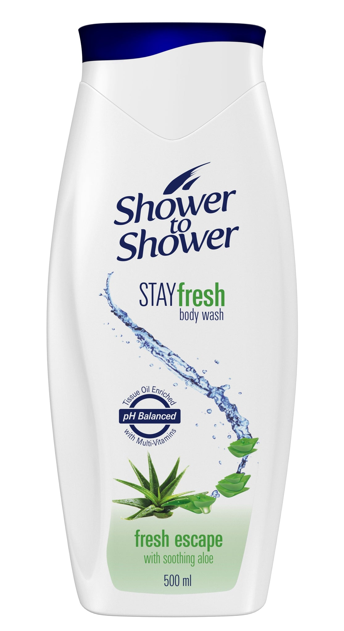 Shower to Shower Gel Fresh Escape - 500ml 24-Pack