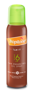 Tropitone Tan It Aerosol Tanning Oil  SPF 6  - 125ml 36-Pack