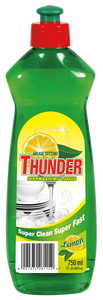 Thunder Dishwashing liquid lemon - 750ml 24-Pack