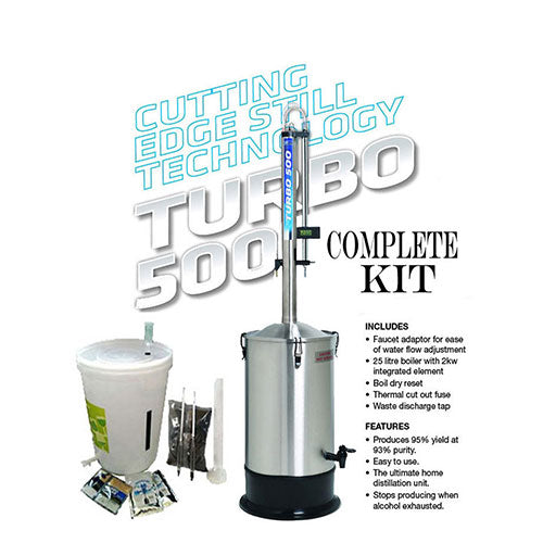 Turbo 500 STAINLESS STEEL Distillation Kit