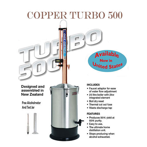 Turbo 500 COPPER Still with FREE SHIPPING