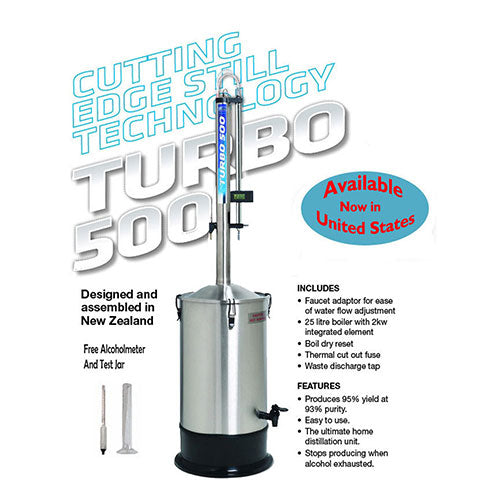 Turbo 500 STAINLESS STEEL Still with FREE SHIPPING
