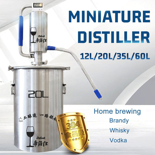 MINI-D STILL 12L/20L/35L/60L (3/6/9/15 Gallon) Make Moonshine Brandy Vodka Whisky Home Distillery
