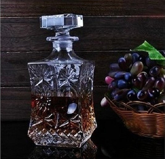 1PC 500ml 800ml Wine Whisky Bottle Crystal Wine Glass Bottle Vodka Jar Jug Wine Decanter Bar Tool JR 1091