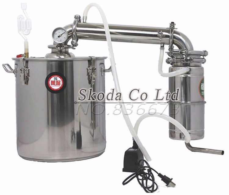 Bar Brewery Equipment Wine Distilled Water Baijiu Household 20L Hydrosol Vodka Maker Brew Alcohol Whisky Distiller