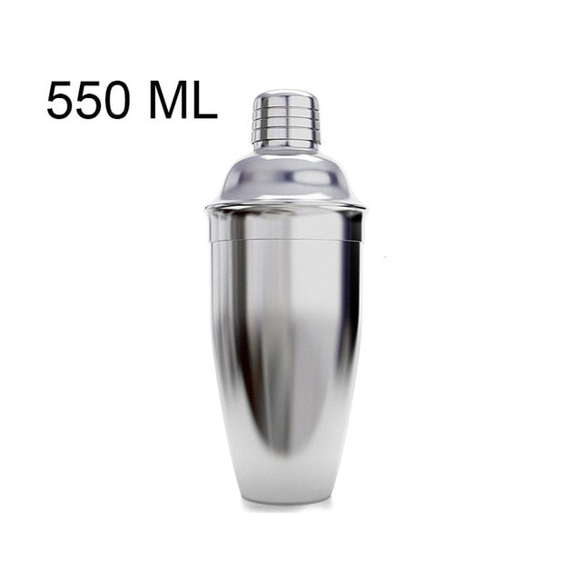 UPORS Stainless Steel Cocktail Shaker Mixer Wine Martini Boston Shaker For Bartender Drink Party Bar Tools 550ML/750ML