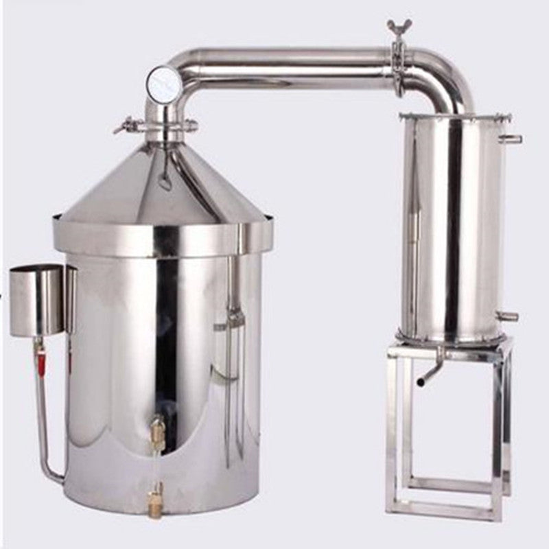 120 L Liters 30 Gal Home Distiller Moonshine Still Wine Whisky Alcohol Oil Water Boiler Stainless Steel & Thumper Keg Brew Kit