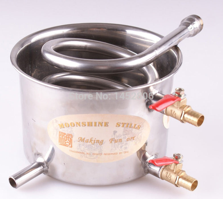3 Pots DIY 2-8 Gal 10-30 L Super NEW Alcohol Stainless Steel Moonshine Still Water Distiller Boiler Keg Wine Home Brewing Kit